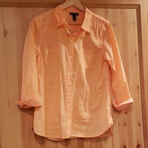 GAP Button Down Boyfriend Fit Shirt